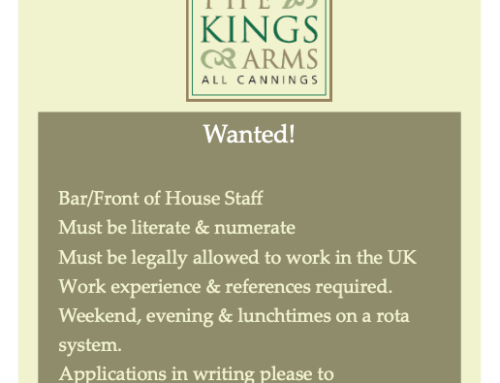 Staff Wanted !
